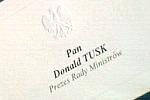 wizytówka konferencyjna Pana Premiera