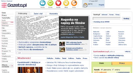 screenshot Gazeta.pl