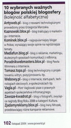 ramka z PC Worlda nr 11/2009