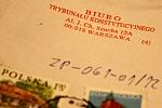 pieczęć Biura Trybunału Konstytucyjnego na kopercie