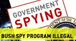 bush spy program illegal