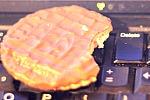 foto ciastka na klawiaturze