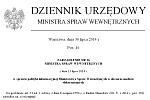 nagłówek dziennika urzędowego MSW