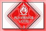 znak flammable liquid