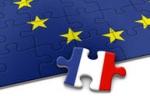 Puzzle UE i flaga Francji