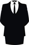 garnitur bez głowy - fragment logo Anonimous