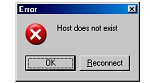 komunikat: Host does not exist