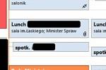 fragment zrzutu ekranu z elektronicznego kalendarza MSZ