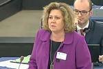 Minister Magdalena Gaj w czasie debaty w Parlamencie Europejskim na temat neutralności sieci
