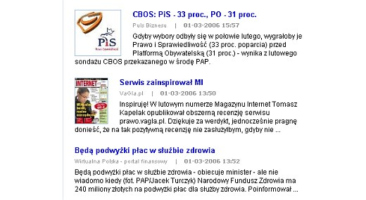 screenshot Netsprintu z 1 marca 2006