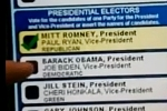 ekran wadliwie działającej maszyny wyborczej