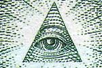 Symbol Oka opaczności na odwrocie banknotu 1 dolara amerykańskiego