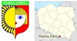 Herb Rabki-Zdroju oraz lokalizacja miasta na mapie Polski