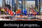 Grafika symblizująca archiwizację materiałów video z posiedzenia Rady UE