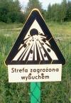 znak strefa zagrożenia wybuchem