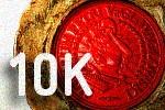 10K na tle pieczęci