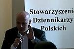 VaGla w czasie dyskusji w siedzibie Stowarzyszenia Dziennikarzy Polskich